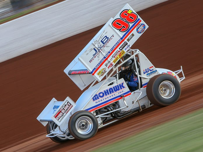 Dave Blaney, shown here earlier this year, won at Sharon Speedway on Saturday night. (Adam Fenwick Photo)