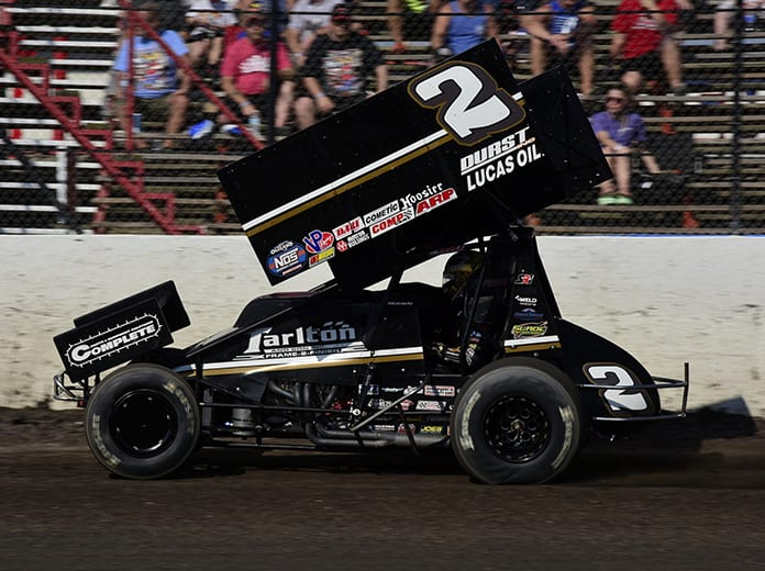 Carson Macedo and Kyle Larson Racing are seemingly hitting their stride at the perfect time. (Mark Funderburk Photo)