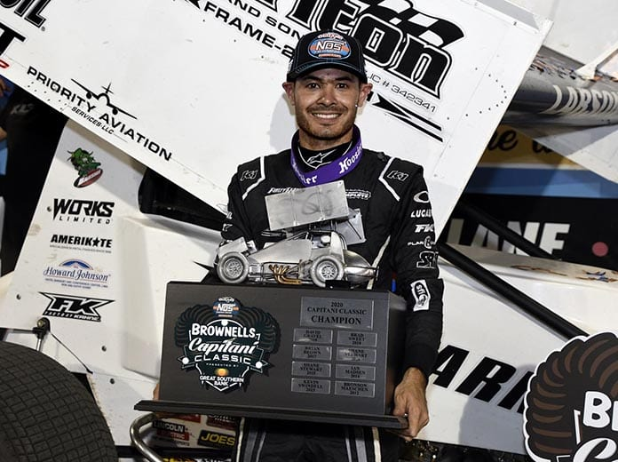Kyle Larson is making his return to USAC Silver Crown competition this Sunday at the Indiana State Fairgrounds. (Frank Smith photo)