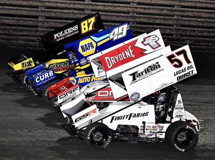 The World of Outlaws NOS Energy Drink Sprint Car Series has released a statement regarding the multiple positive COVID-19 test results after the most recent event at Knoxville Raceway. (Frank Smith Photo)