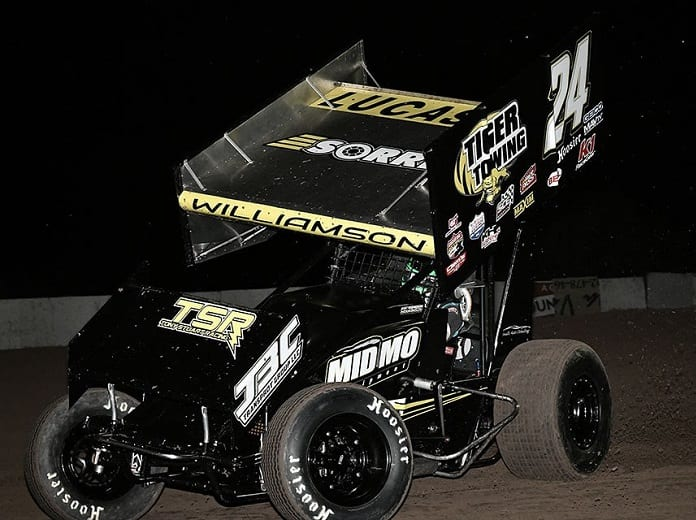 Garet Williamson recently ended his first full campaign with the Lucas Oil American Sprint Car Series. (Ben Thrasher Photo)