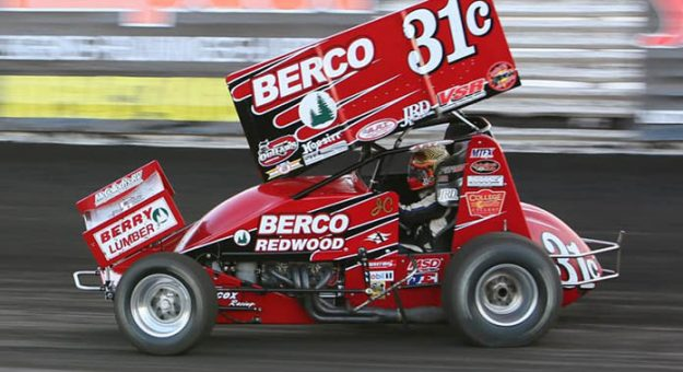 Justyn Cox will offer a 360 sprint car ride to a track champion at Delta Speedway.