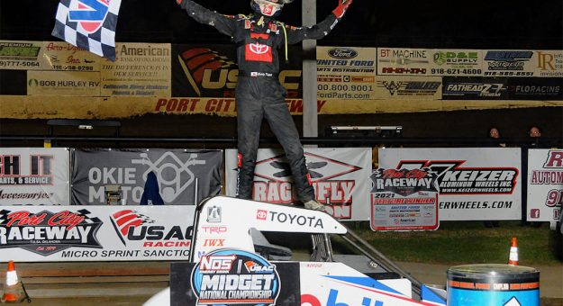 Buddy Kofoid in victory lane at Port City Raceway. (TWC photo)
