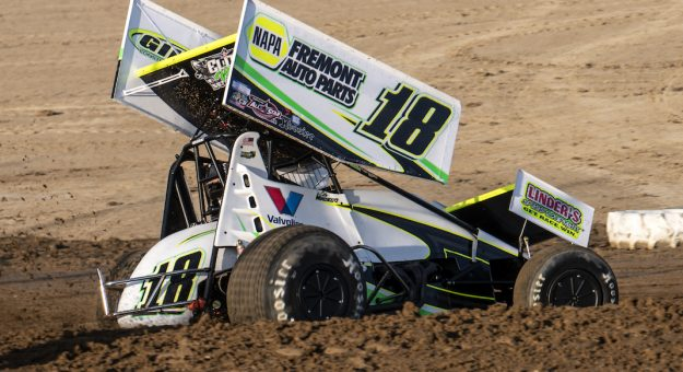 Cole Macedo at Attica Raceway Park. (Mike Campbell photo)
