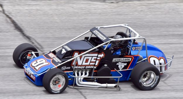 2021 Usac Silver Crown Winchester Justin Grant Practice Action Randy Crist Photo