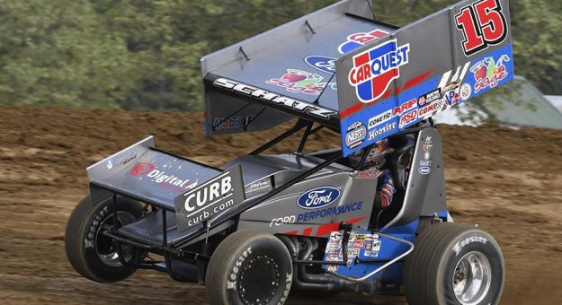 Donny Schatz hopes have fun and turn in a good performance in his NASCAR Camping World Truck Series debut at Knoxville Raceway. (Frank Smith Photo)