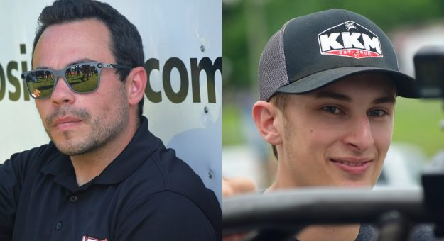 Chris Windom (left) and Buddy Kofoid (right) are tied for the Indiana Midget Week point lead. (Jacob Seelman Photo)