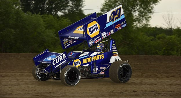 Brad Sweet won Saturday's World of Outlaws feature at Wilmot Raceway. (Mark Funderburk Photo)