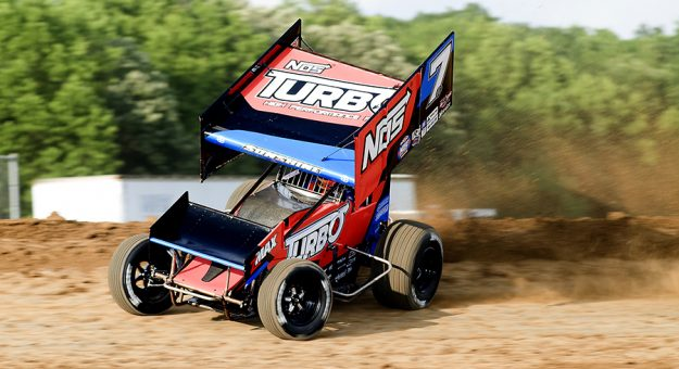 Tyler Courtney has excelled in his first full season in a winged sprint car. (Doug Auld Photo)