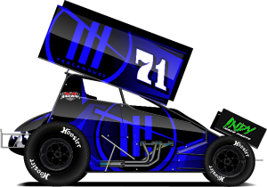 The car Shane Stewart will drive during the 60th Knoxville Nationals.