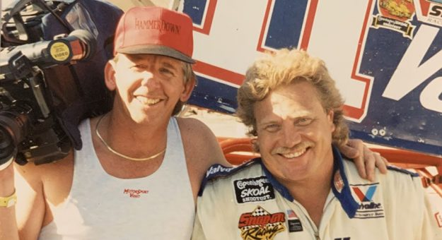 Greg Stephens (left) with Steve Kinser in 1994. (Stephens Collection Photo)